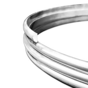 Sterling Silver D-Shape Wire