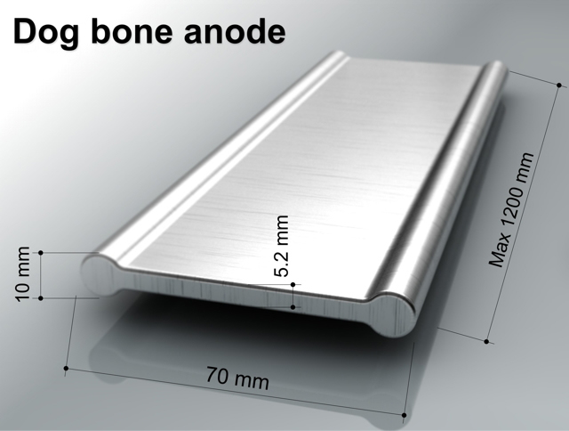 dog bone anode silver